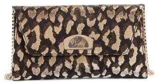 Christian Louboutin Vero Dodat Metallic Leopard Print Clutch