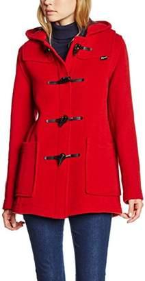 Gloverall Women's Slim Short Duffle Coat, (Red)