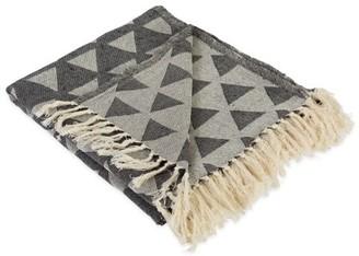 "Dii DII Triangle Decorative Throw, 50""x60"", 100% Cotton, Multiple Colors"