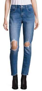 Levi's 721 High Rise Ripped Skinny Jeans $88 thestylecure.com