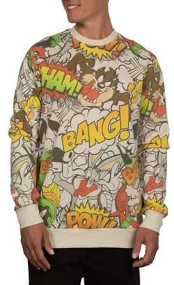 Looney Tunes Movies & TV Brawl Men's Crew Fleece, up to Size 2XL