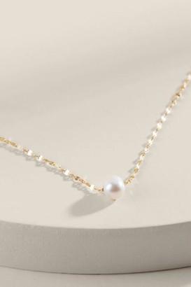 francesca's Hannah 14K Gold Freshwater Pearl Pendant - Gold