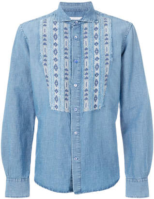 Ermanno Scervino aztec bib denim shirt