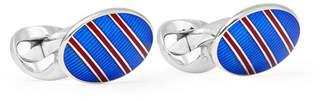 Deakin & Francis Kingsman + Enamelled Sterling Silver Cufflinks
