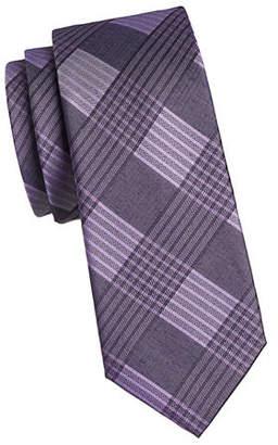 Calvin Klein Windowpane Silk Tie