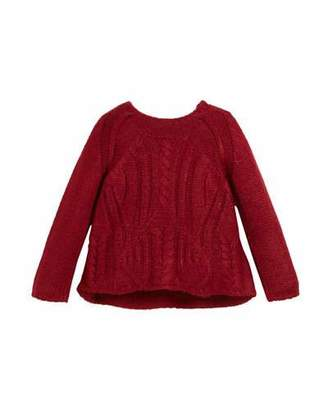 Mayoral Chunky Cable-Knit Sweater, Size 3-7