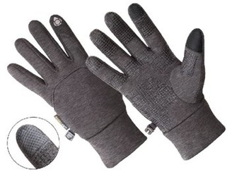 HANDS ONTM AL1405, Men's Multi-Purpose Athletic Glove, Touchscreen Compatible, Speckled Charcoal Grey (One Size Fits Most)