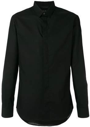 Philipp Plein crystal skull and checkered back shirt