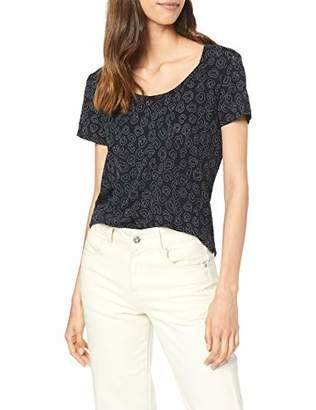 aa8b66a878b5 Dorothy Perkins Women's Navy Leopard Puff Print T-Shirt,(Manufacturer Size:)