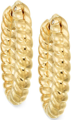 Signature Gold Rope Hoop Earrings in 14k Gold over Resin