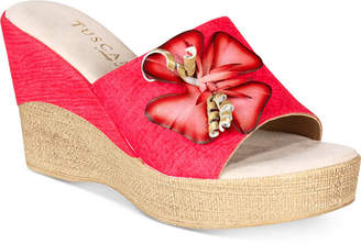 Easy Street Shoes Tuscany by Castello Wedge Sandals Women's Shoes