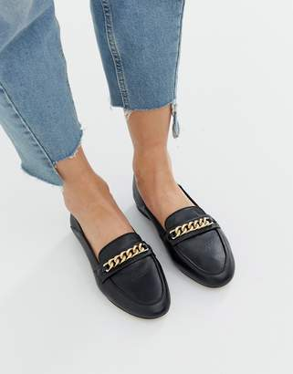 Aldo leather trim loafers