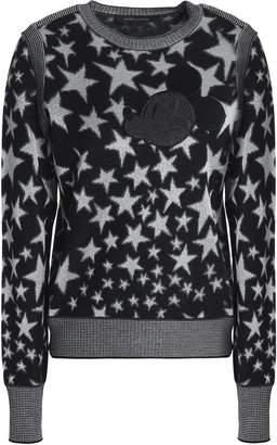 Marc Jacobs (マーク ジェイコブス) - マーク ジェイコブス メタリック ジャカードニット ウール混 セーター