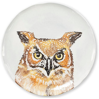 Vietri Into the Woods Owl Salad Plate - White