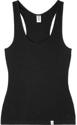 Les Girls Les Boys - Ribbed Stretch-cotton Jersey Tank - Black