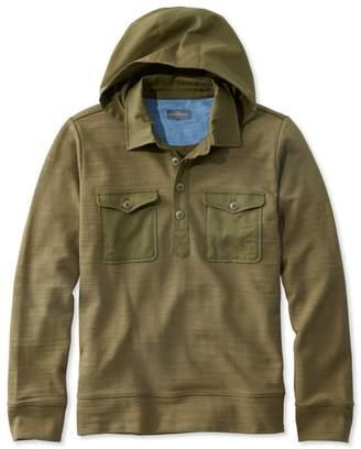 L.L. Bean L.L.Bean Signature Hooded Henley Sweatshirt, Long Sleeve