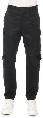 Alexander McQueen Cargo Pants with Velvet Flaps, Black $865 thestylecure.com