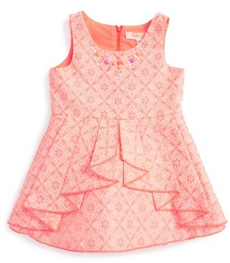 Baby Sara Infant Girl's Baby Sara Embellished Fit & Flare Dress