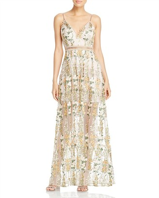AQUA x Maddie & Tae Embellished Maxi Dress - 100% Exclusive $188 thestylecure.com