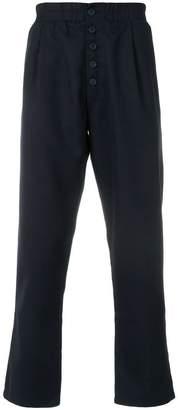 Sunnei button front straight leg trousers