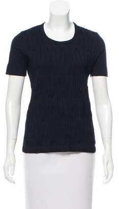 Akris Punto Pleat-Accented Short Sleeve T-Shirt
