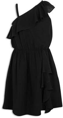 BCBGirls Girls' Ruffled Asymmetrical Dress - Big Kid