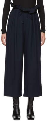 Enfold Navy Wool Flannel Waist Trousers