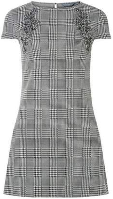 Dorothy Perkins Womens **Tall Monochrome Check Embroidered Tunic