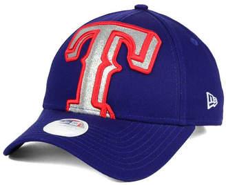 New Era Women's Texas Rangers Glitter Glam 9FORTY Strapback Cap