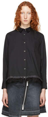 Sacai Black Cotton Poplin Shirt