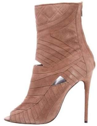 J. Mendel Peep-Toe Cutout Ankle Boots