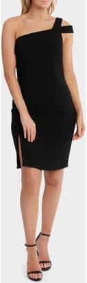 Basque One Shoulder Slim Dress