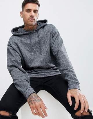 Asos DESIGN oversized hoodie in charcoal