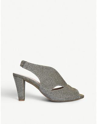 Arabella Carvela Comfort metallic heeled sandals