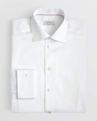 Eton of Sweden Solid Dress Shirt with French Cuff - Regular Fit