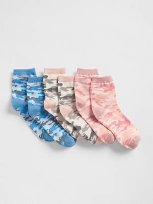 Gap Camo Crew Socks (3-Pack)