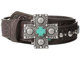 Ariat Turquoise Cross Studded Belt