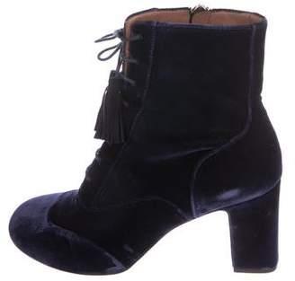 Tabitha Simmons Velvet Ankle Boots