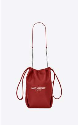 Saint Laurent Teddy Drawstring Bag In Smooth Leather