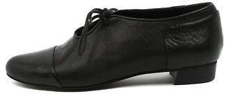 Django & Juliette New Evan Black Leather Womens Shoes Casual Shoes Flat