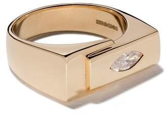 Lizzie Mandler Fine Jewelry ダイヤモンド ピンキーリング 18Kイエローゴールド