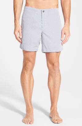 boto 'Aruba - Stripe' Tailored Fit 6.5 Inch Board Shorts