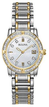 Bulova Ladies' Diamond Two Tone Gold Watch, TCW 98R107 $425 thestylecure.com
