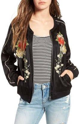 Women's Blanknyc Embroidered Bomber Jacket $128 thestylecure.com