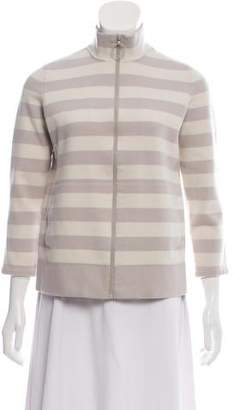 Akris Punto Wool-Blend Zip-Up Sweater