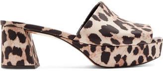 Ganni Leopard-print Platform Mules
