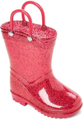 Lilly Of New York (Toddler/Kids Girls) Pink Glitter Rain Boots