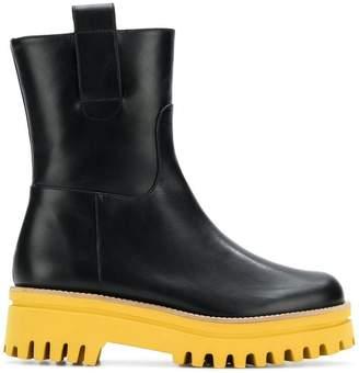 Paloma Barceló ridged platform boots