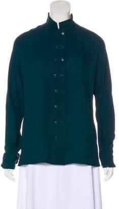 Akris Silk Long Sleeve Top