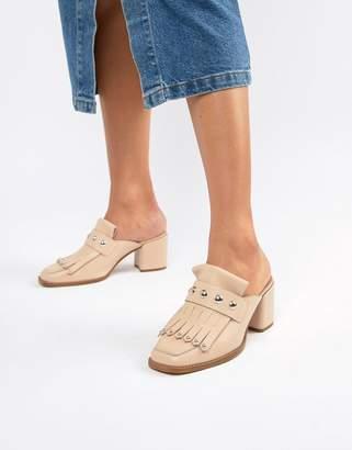 Asos DESIGN Tamika leather premium loafer mules